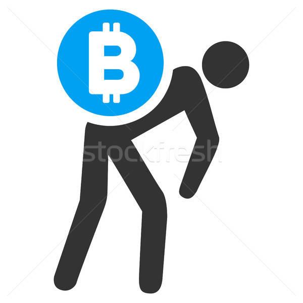 Bitcoin corriere uomo icona applicazione web design Foto d'archivio © ahasoft