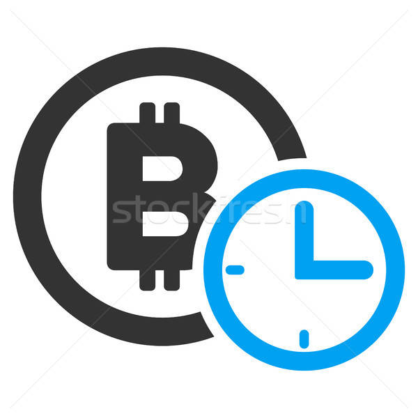 Bitcoin Credit Time Flat Icon Stock photo © ahasoft