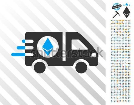 Ethereum Express Car Flat Icon Stock photo © ahasoft