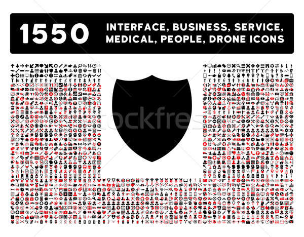 Shield Icon and More Interface, Business, Tools, People, Medical, Awards Flat Glyph Icons Stock photo © ahasoft