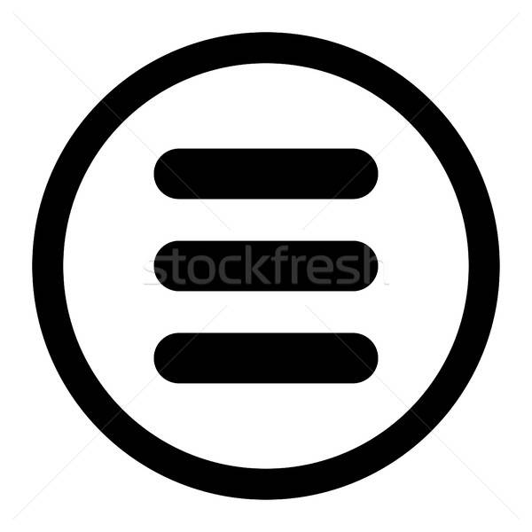 Stack flat black color rounded vector icon Stock photo © ahasoft