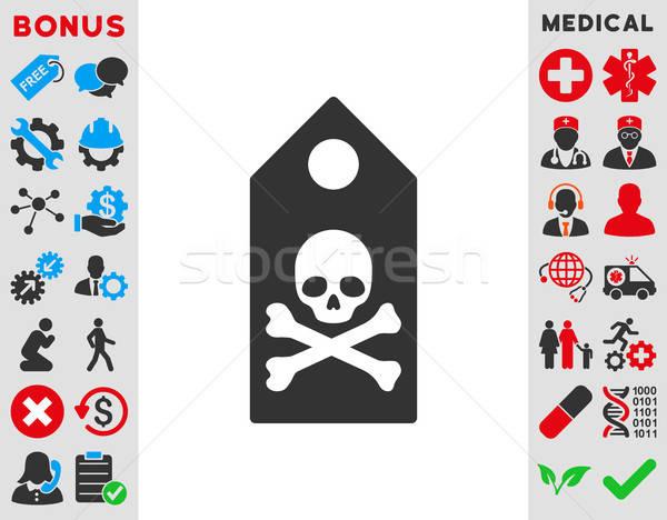 Mort icône vecteur style symbole Photo stock © ahasoft