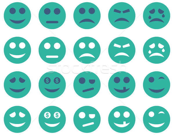 Stock photo: Smile and emotion icons