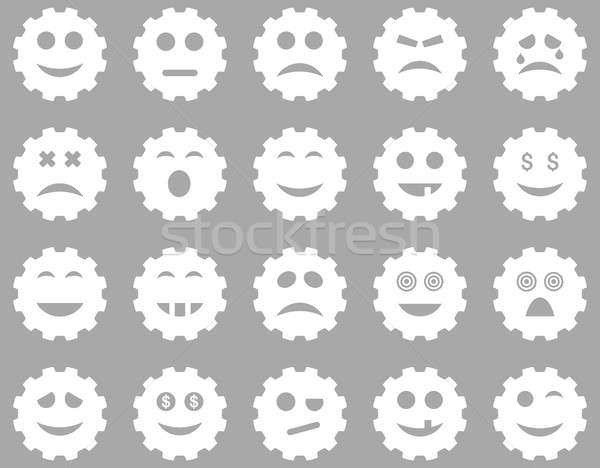Gear emotion icons Stock photo © ahasoft