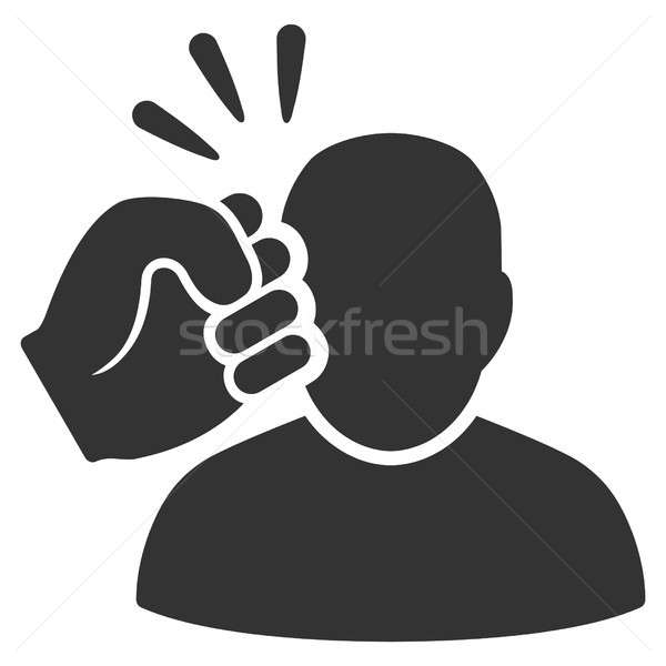 Crime Violation Fist Strike Raster Icon Stock photo © ahasoft