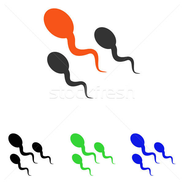 Stock photo: Sperm Flat Vector Icon