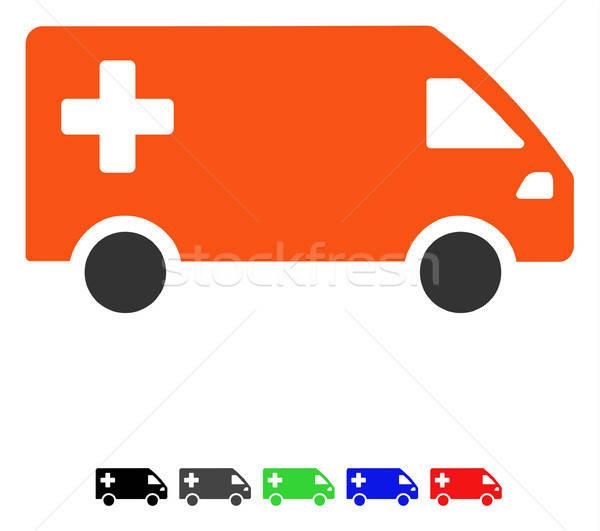 Emergency Van Flat Icon Stock photo © ahasoft
