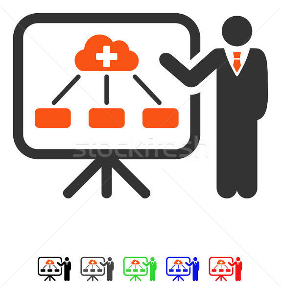 Health Care System Report Flat Icon Stock photo © ahasoft