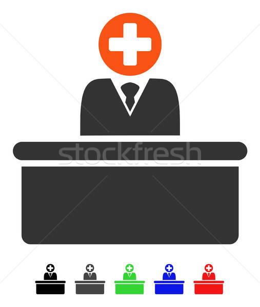 Medical Bureaucrat Flat Icon Stock photo © ahasoft