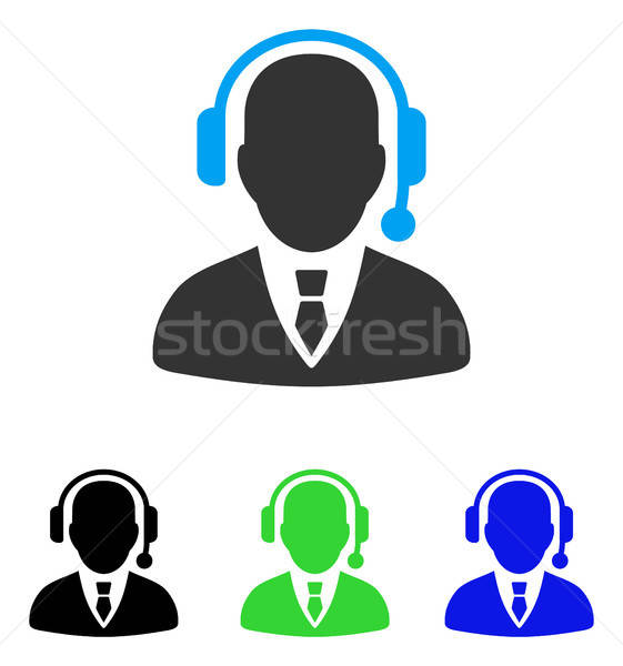 Dispatcher Flat Icon Stock photo © ahasoft