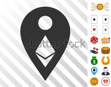 Ethereum Map Marker Flat Icon Stock photo © ahasoft