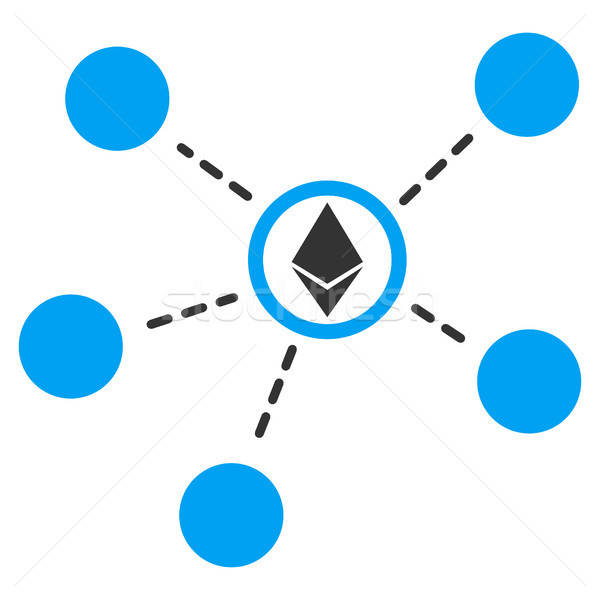 Stock photo: Ethereum Network Links Flat Icon