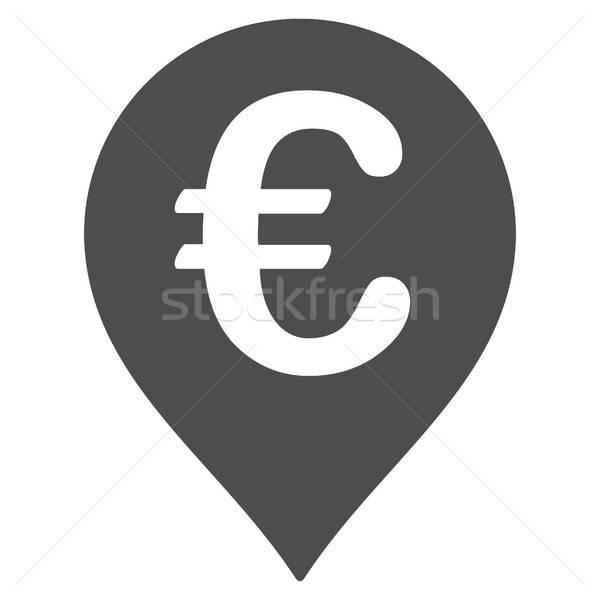 Euro mappa marcatore icona vettore pittogramma Foto d'archivio © ahasoft