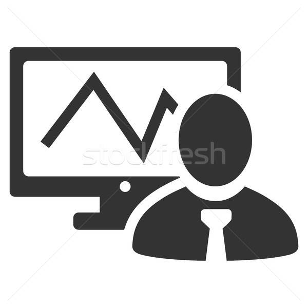 Online handelaar icon vector stijl grafische Stockfoto © ahasoft