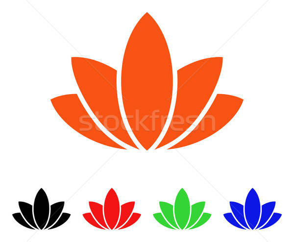 Lotus Flower Vector Icon Stock photo © ahasoft