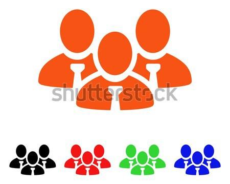 Usuário grupo vetor ícone estilo icônico Foto stock © ahasoft