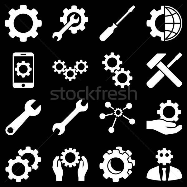 Opzioni servizio strumenti vettore stile Foto d'archivio © ahasoft