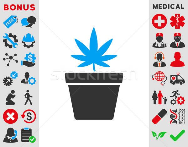 Cannabis edény ikon vektor stílus szimbólum Stock fotó © ahasoft