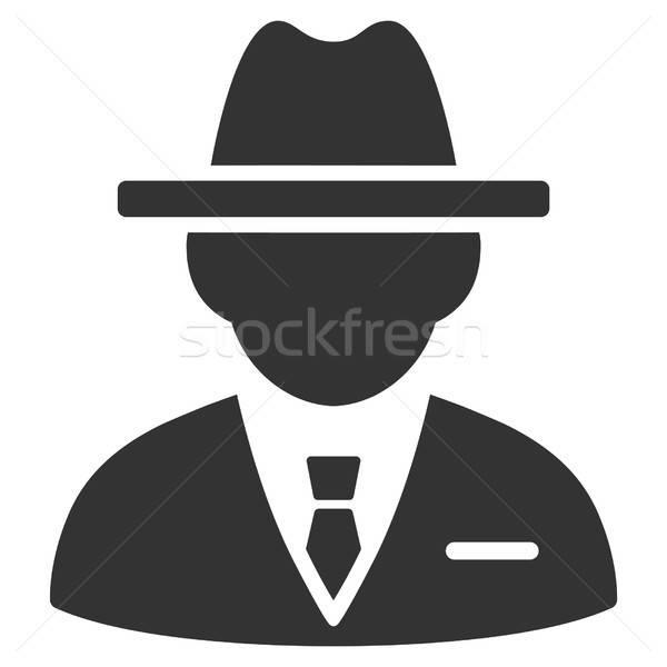 Agent vector icon grijs interface pictogram Stockfoto © ahasoft