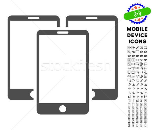 Telefony komórkowe ikona komórkowych stylu Zdjęcia stock © ahasoft
