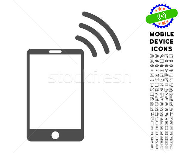 Mobiles wifi signal icône style Photo stock © ahasoft