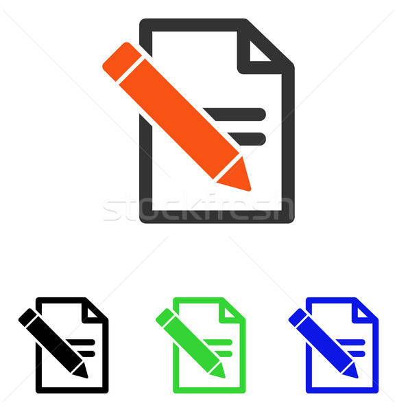 Edit Records Flat Vector Icon Stock photo © ahasoft