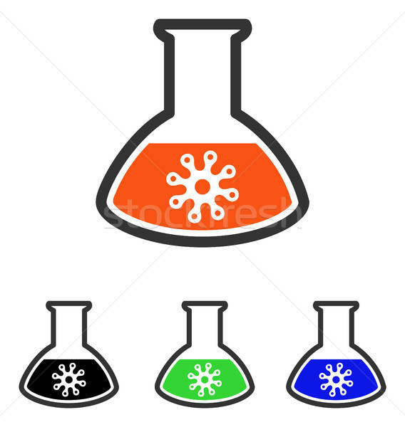 Virus Analysis Flat Vector Icon Stock photo © ahasoft