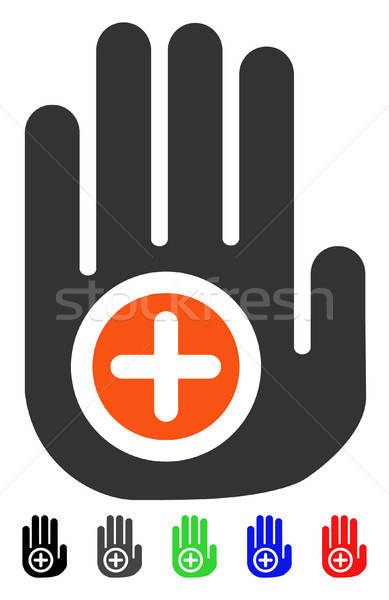 Hand Medical Marker Flat Icon Stock photo © ahasoft