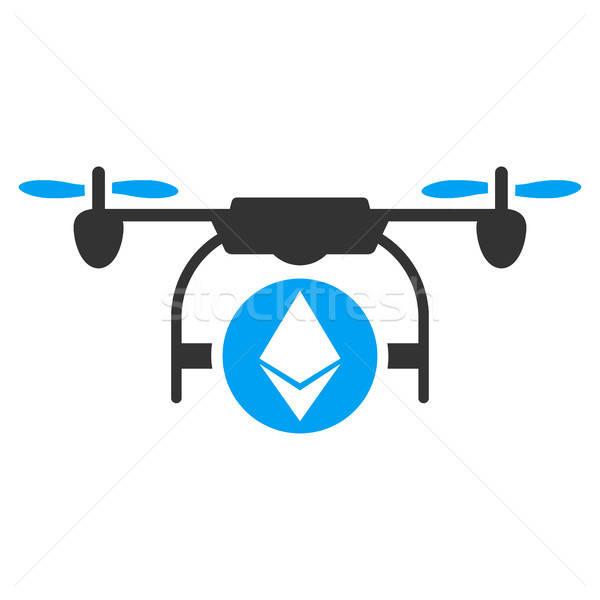 Ethereum Airdrone Flat Icon Stock photo © ahasoft