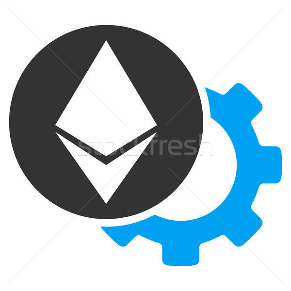 Ethereum Settings Gear Flat Icon Stock photo © ahasoft