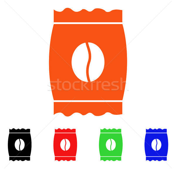 Coffee Bean Pack Vector Icon Stock photo © ahasoft