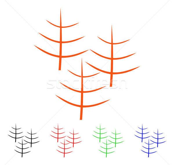 ölü orman vektör ikon stil ikonik Stok fotoğraf © ahasoft