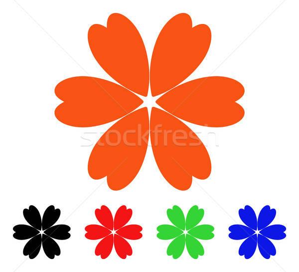 цветок вектор икона цветок стиль iconic символ Сток-фото © ahasoft