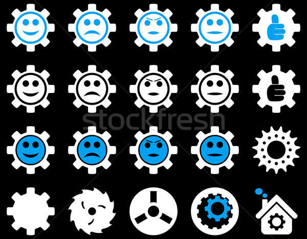 Tools and Smile Gears Icons Stock photo © ahasoft