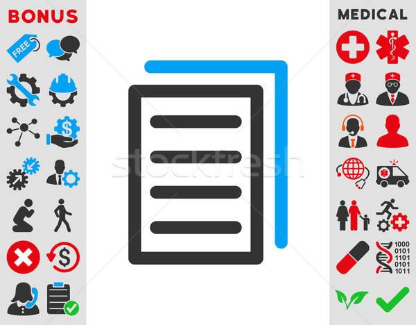 Copy Document Icon Stock photo © ahasoft