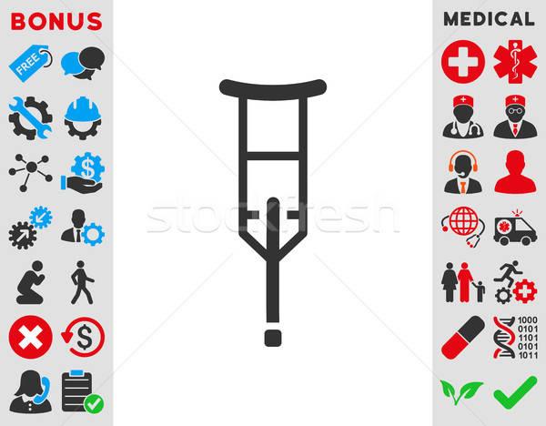 Crutch Icon Stock photo © ahasoft