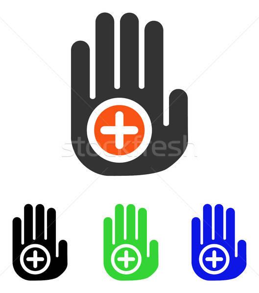 Main médicaux marqueur vecteur icône pictogramme Photo stock © ahasoft