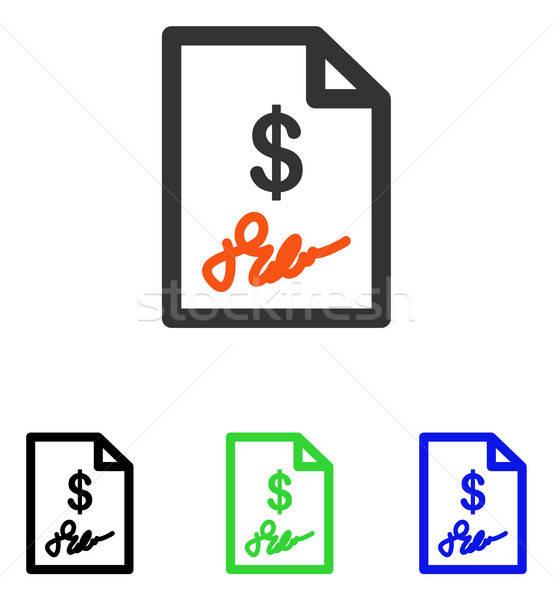 Factura vector icono pictograma ilustración estilo Foto stock © ahasoft