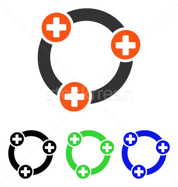 Medical Collaboration Flat Vector Icon Stock photo © ahasoft
