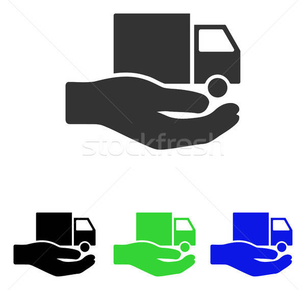 Delivery Service Hand Flat Vector Icon Stock photo © ahasoft