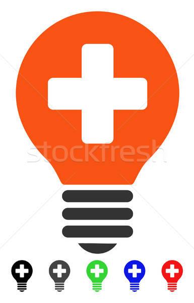 Healh Care Bulb Flat Icon Stock photo © ahasoft