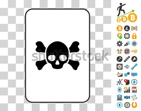Dead Tools Flat Icon with Clip Art Stock photo © ahasoft