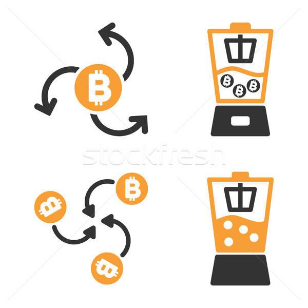Bitcoin vetor estilo tecnologia Foto stock © ahasoft