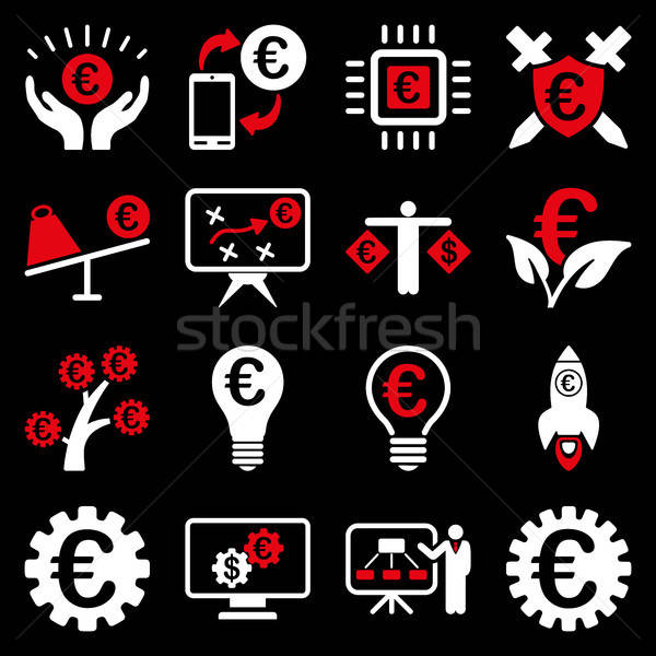 Stockfoto: Euro · bancaire · business · dienst · tools · iconen