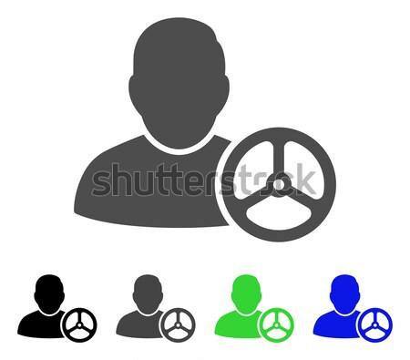 Klienta kolejka ikona wektora piktogram stylu Zdjęcia stock © ahasoft