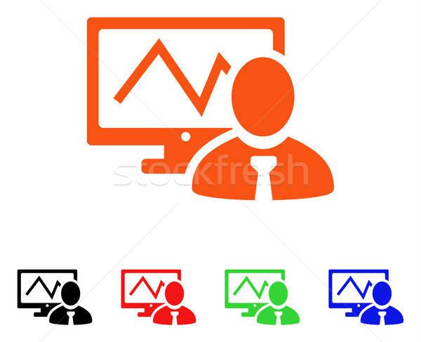 Online commerciante vettore icona stile Foto d'archivio © ahasoft
