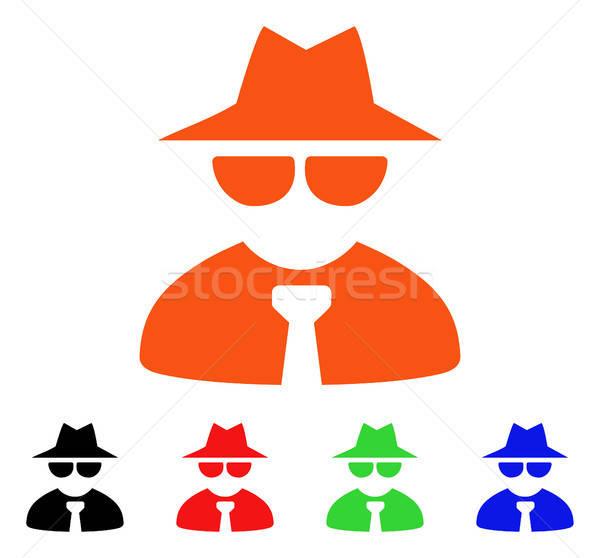 Maffia baas vector icon stijl Stockfoto © ahasoft