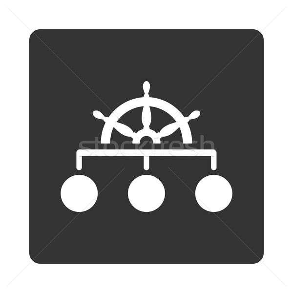 Gobernar icono estilo blanco gris colores Foto stock © ahasoft
