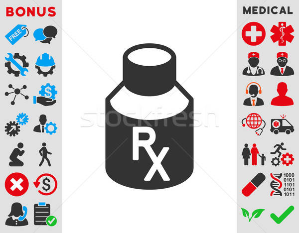 Receipt Vial Icon Stock photo © ahasoft