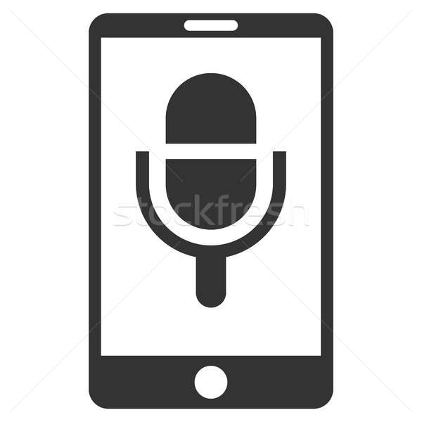 Phone Microphone Flat Raster Icon Stock photo © ahasoft